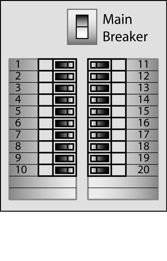 Labeling (mapping) your electrical service panel (aka breaker box)