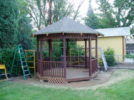 Day 21 Gazebo Project – We're Done! …well almost